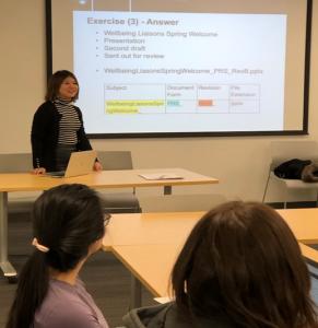 Arika Kaneko Leading File Naming Workshop