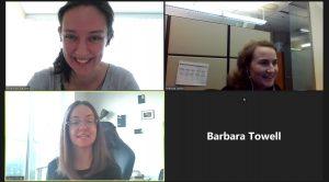 Rhiannon Wallace, Melissa Lasko, Devon Farrell (2020 Work Learn student), Barbara Towell